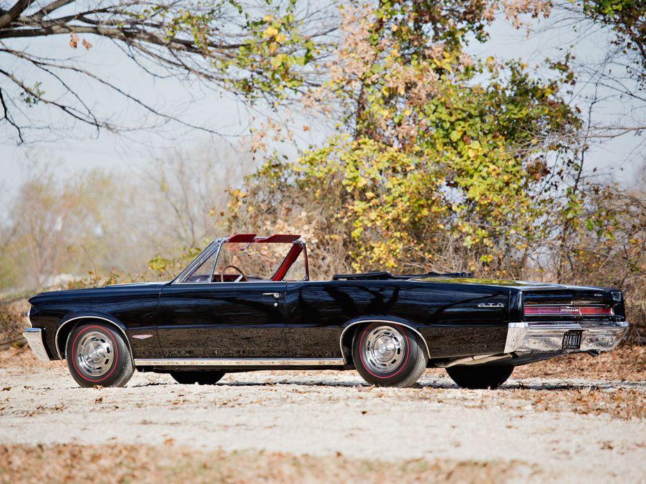 1964 Pontiac Tempest LeMans GTO Convertible muscle classic  f wallpaper