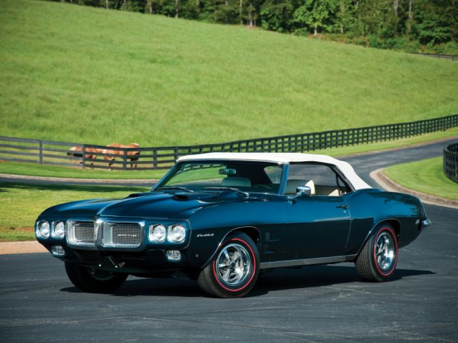 1969 Pontiac Firebird 400 Ram Air I-V Convertible 2367 muscle classic wallpaper