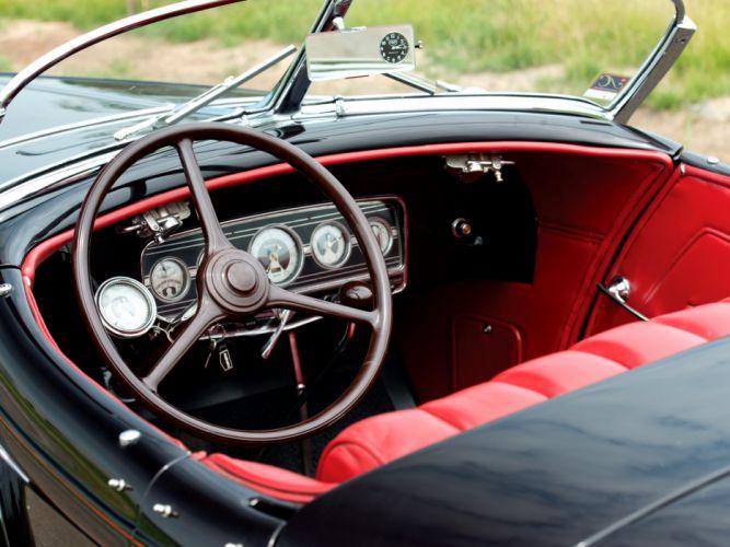 1933 Auburn V12 Speedster retro interior wallpaper