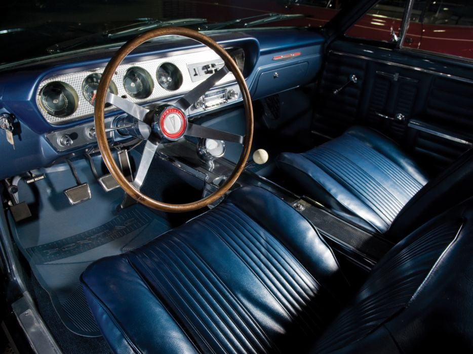 1964 Pontiac Tempest LeMans GTO Convertible muscle classic interior wallpaper