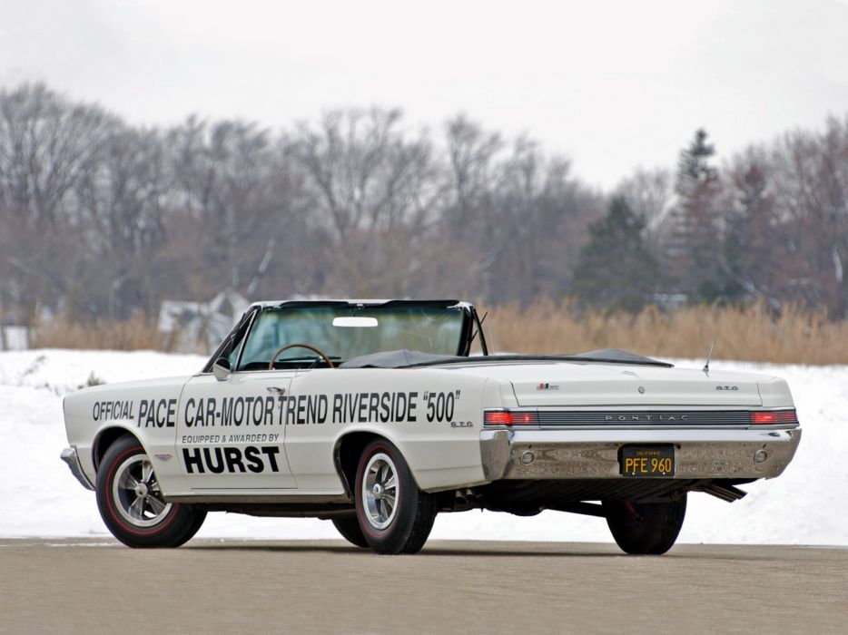 1965 Pontiac Tempest LeMans GTO Convertible Pace race racing classic muscle  g wallpaper