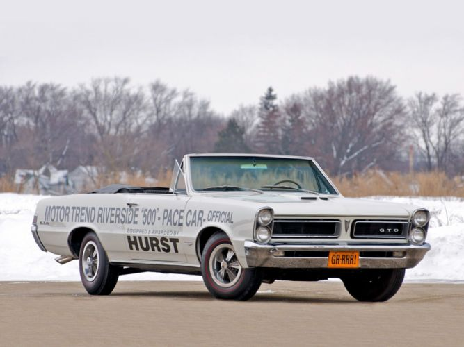 1965 Pontiac Tempest LeMans GTO Convertible Pace race racing classic muscle wallpaper