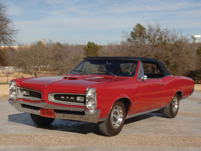 1966 Pontiac Tempest GTO Convertible muscle classic g wallpaper
