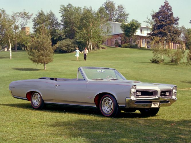 1966 Pontiac Tempest GTO Convertible muscle classic wallpaper