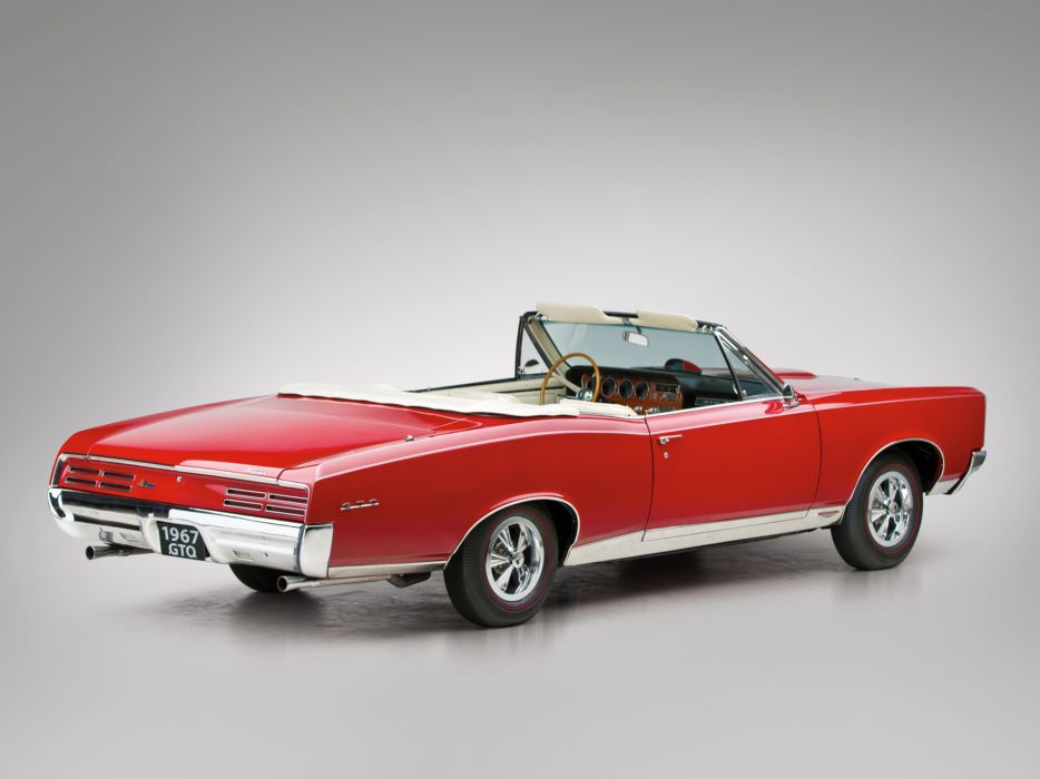 1967 Pontiac Tempest GTO Convertible muscle classic     f wallpaper