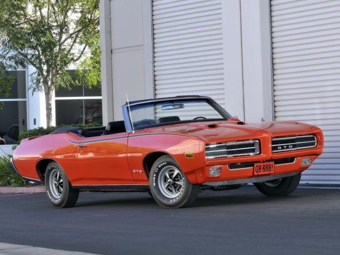 1969 Pontiac GTO Judge Convertible 4267 muscle classic g wallpaper