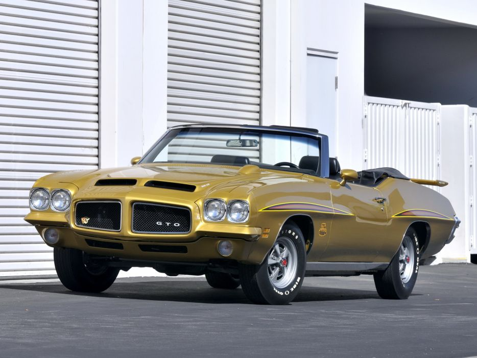 1971 Pontiac GTO Judge Convertible muscle classic muscle classic    g wallpaper