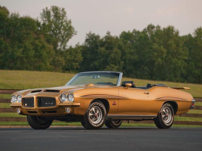 1971 Pontiac GTO Judge Convertible muscle classic wallpaper