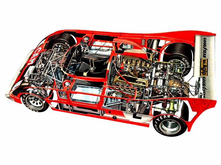 1973 Alfa Romeo Tipo 33TT12 race racing classic interior engine engines wallpaper