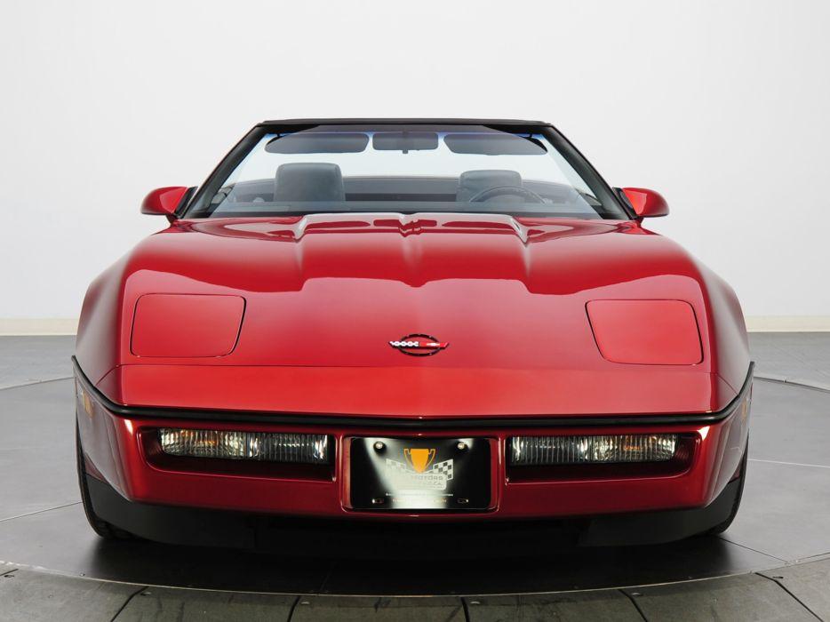 1986 Corvette Convertible supercar supercars muscle classic     fs wallpaper
