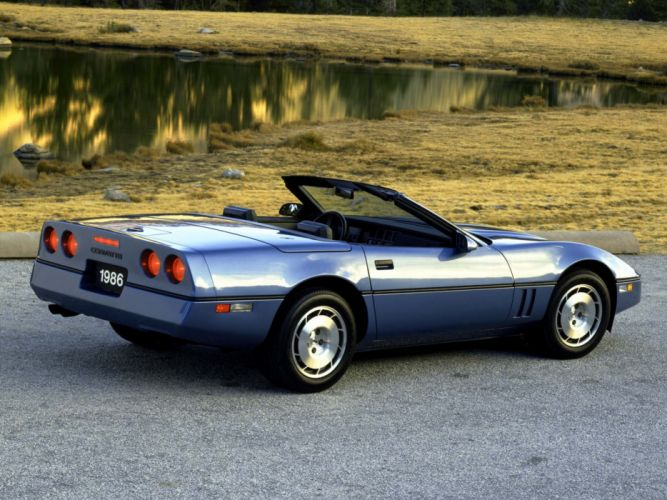 1986 Corvette Convertible supercar supercars muscle classic g wallpaper