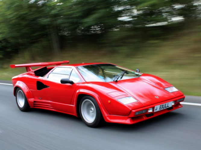 1988 Lamborghini Countach LP5000 Quattrovalvole UK-spec supercar supercars classic wallpaper