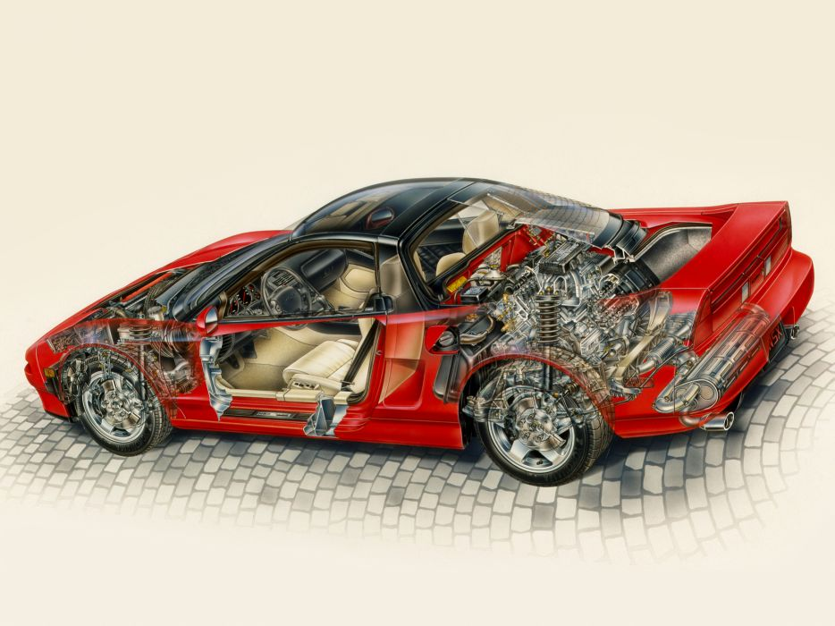 1991 Acura NSX supercar supercars interior engine engines wallpaper