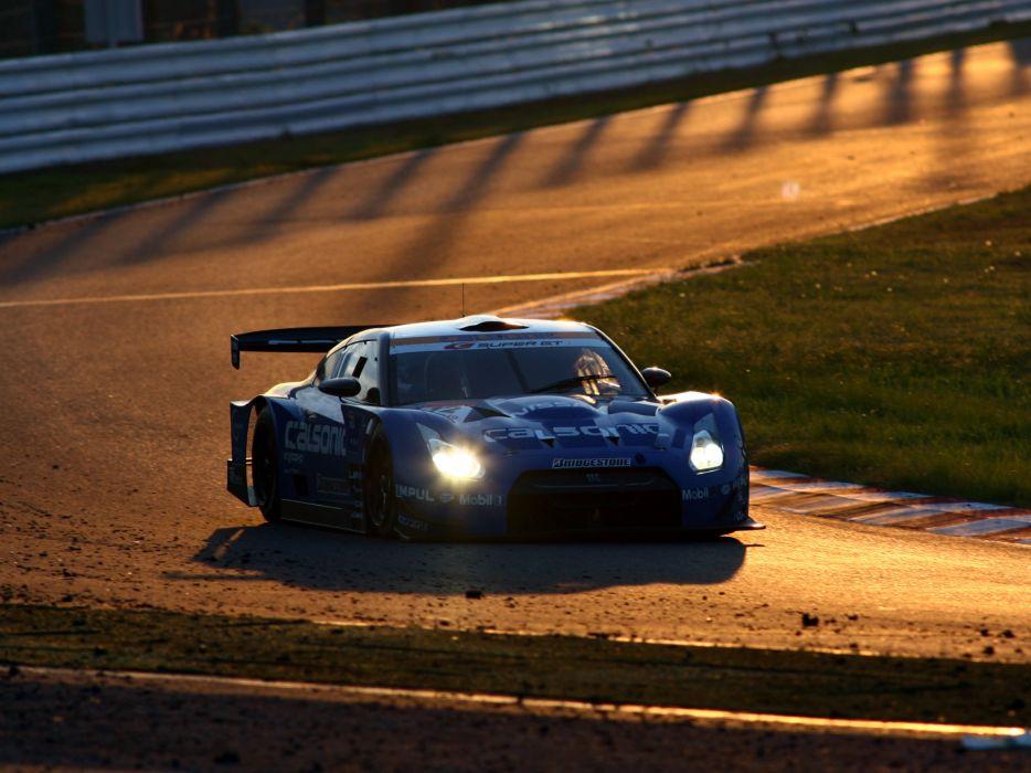 2008 Nissan GT-R GT500 R35 race racing wallpaper