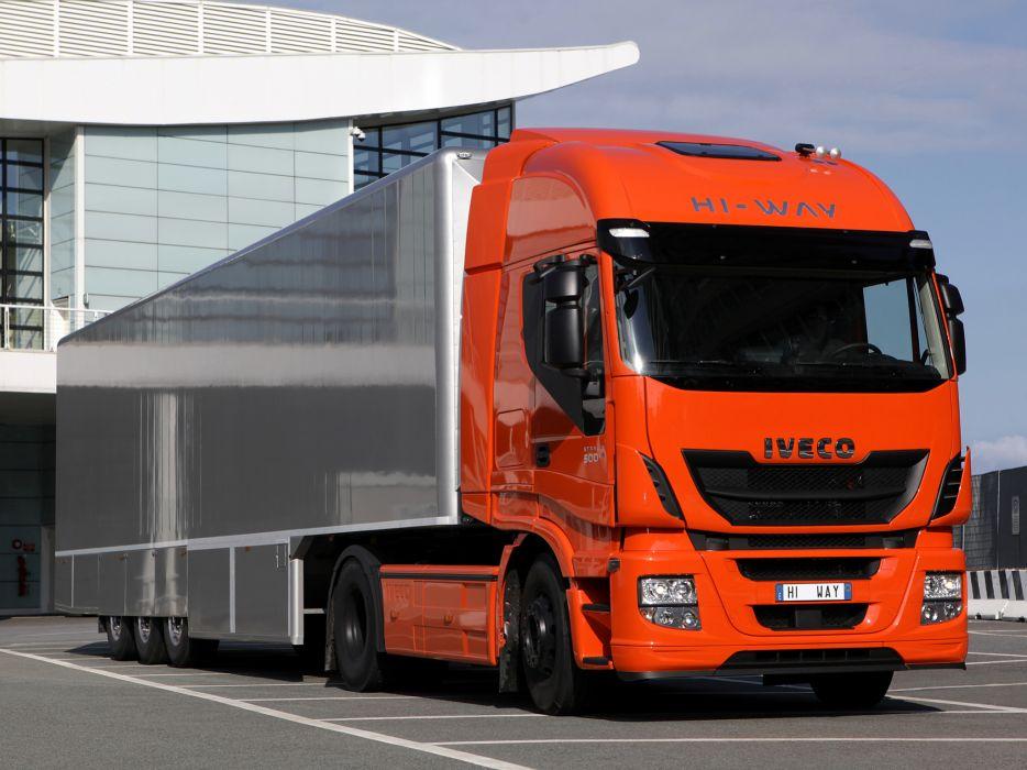 2012 Iveco Stralis Hi-Way 500 4x2 semi tractor rig truck transport   h wallpaper