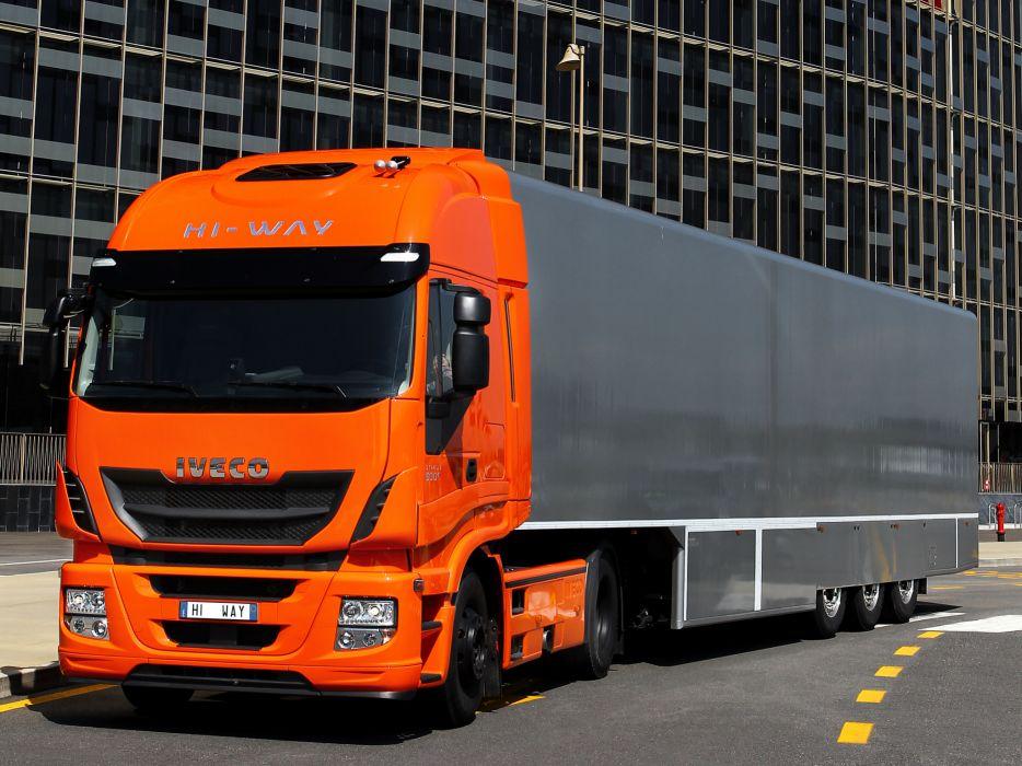 2012 Iveco Stralis Hi-Way 500 4x2 semi tractor rig truck transport  g wallpaper
