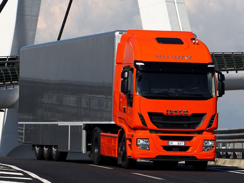 2012 Iveco Stralis Hi-Way 500 4x2 semi tractor rig truck transport  ga wallpaper