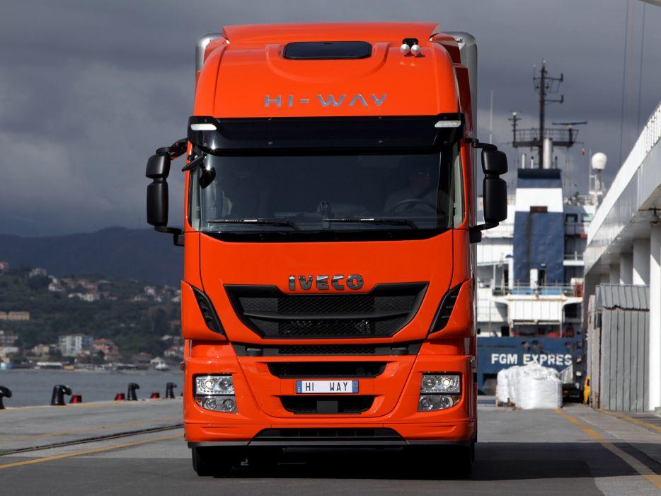 2012 Iveco Stralis Hi-Way 500 4x2 semi tractor rig truck transport  gq wallpaper