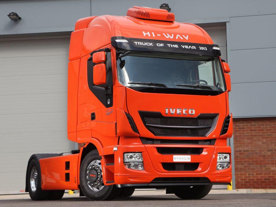 2012 Iveco Stralis Hi-Way 500 4x2 semi tractor rig truck transport  n wallpaper