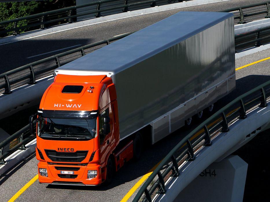 2012 Iveco Stralis Hi-Way 500 4x2 semi tractor rig truck transport f wallpaper