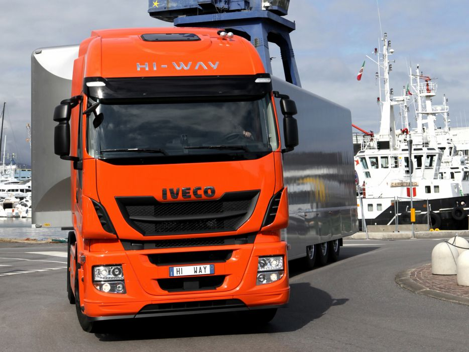 2012 Iveco Stralis Hi-Way 500 4x2 semi tractor rig truck transport f wallpaper