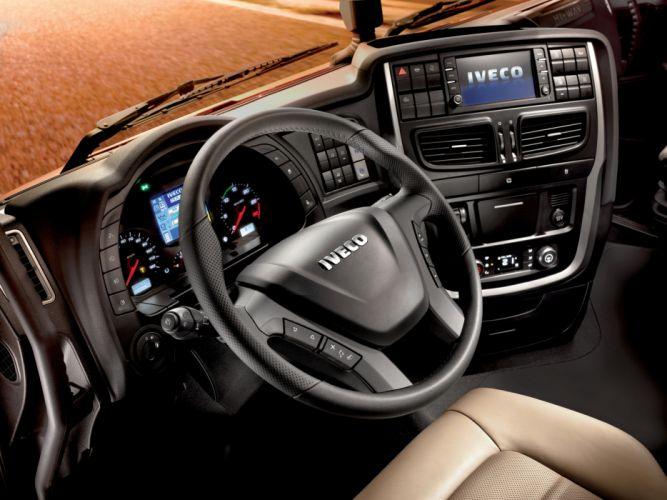 2012 Iveco Stralis Hi-Way 500 4x2 semi tractor rig truck transport interior f wallpaper