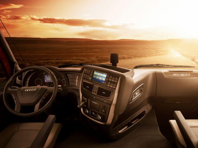 2012 Iveco Stralis Hi-Way 500 4x2 semi tractor rig truck transport r interior wallpaper