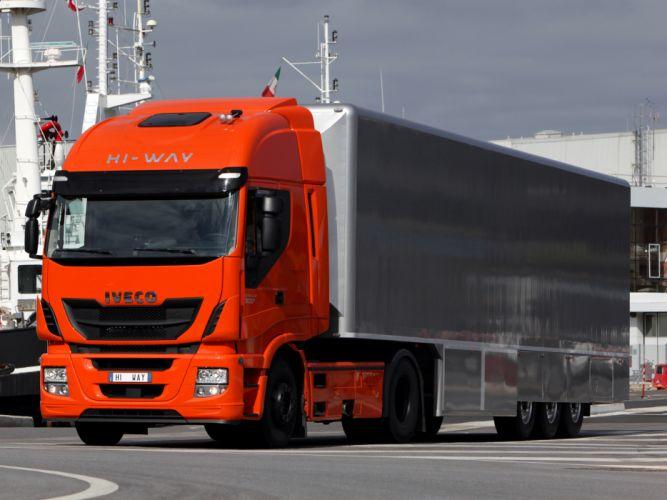 2012 Iveco Stralis Hi-Way 500 4x2 semi tractor rig truck transport wallpaper