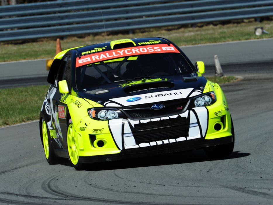 2012 Subaru Impreza WRX STi Rallycross GRB race racing   d wallpaper
