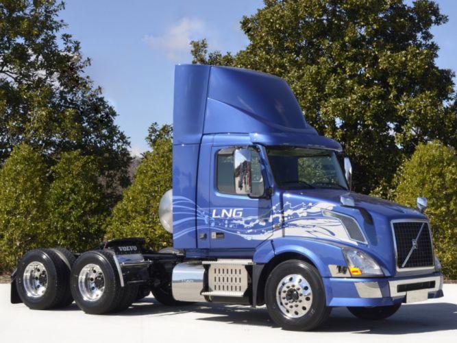2013 Volvo VNL 300 LNG semi tractor rig rigs truck transport wallpaper