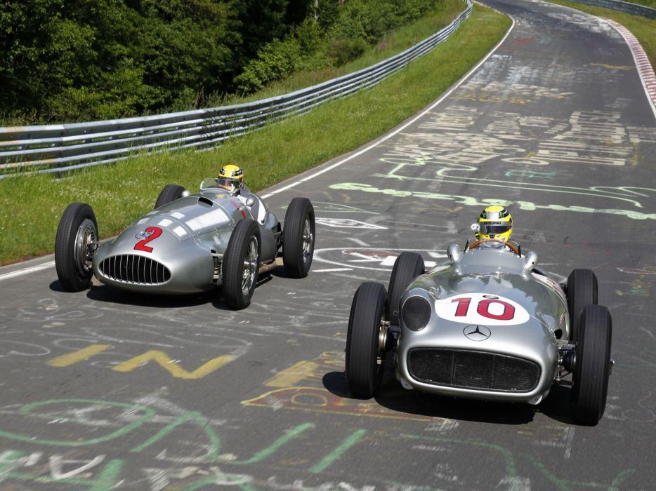 Mercedes Benz Formula 1 f-1 race racing retro   g wallpaper
