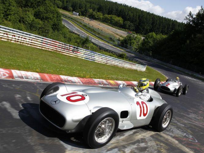 Mercedes Benz Formula 1 f-1 race racing retro f wallpaper
