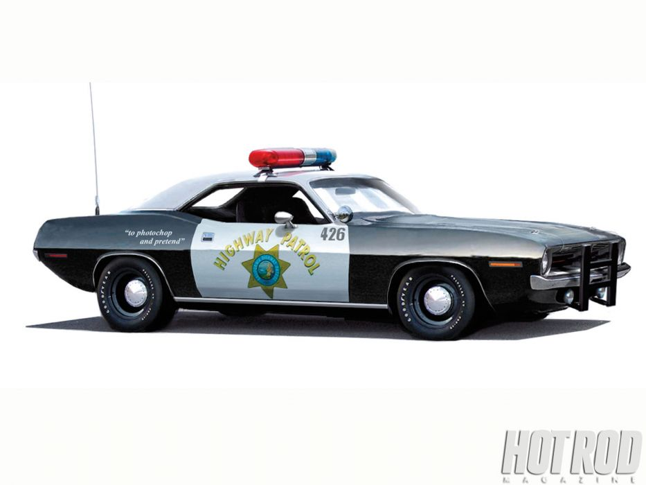 Plymouth Barracuda cuda muscle hot rod rods classic police wallpaper