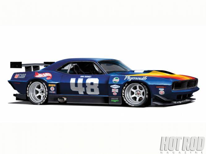 Plymouth Barracuda cuda muscle hot rod rods classic race racing do wallpaper
