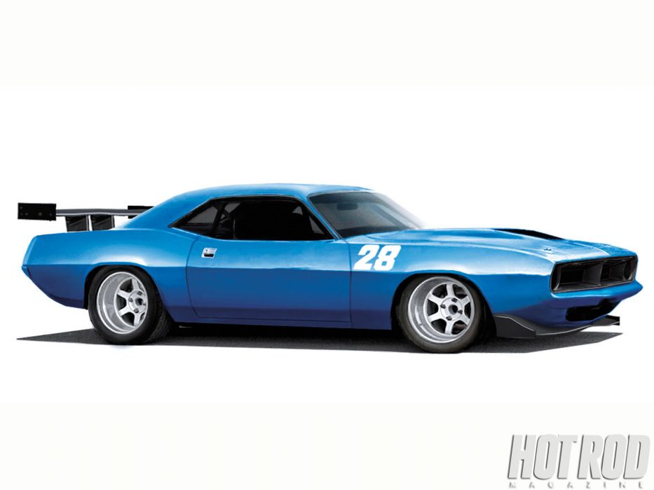 Plymouth Barracuda cuda muscle hot rod rods classic race racing       fx wallpaper