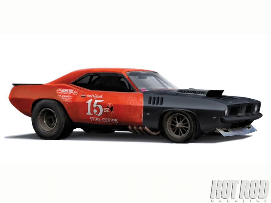 Plymouth Barracuda cuda muscle hot rod rods classic race racing drag wallpaper