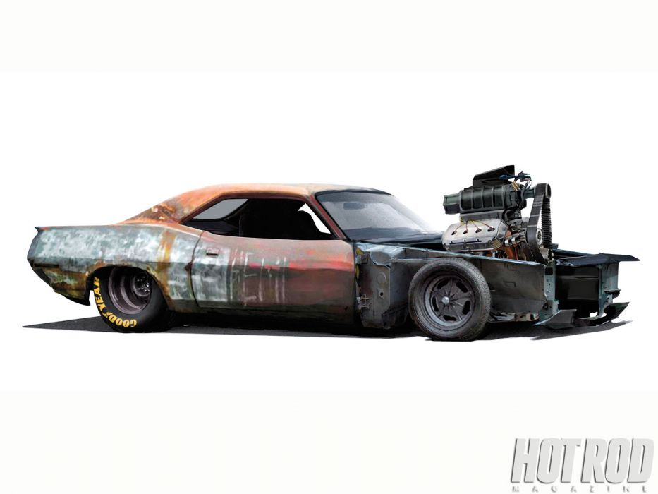 Plymouth Barracuda cuda muscle hot rod rods classic race racing engine engines  qa wallpaper