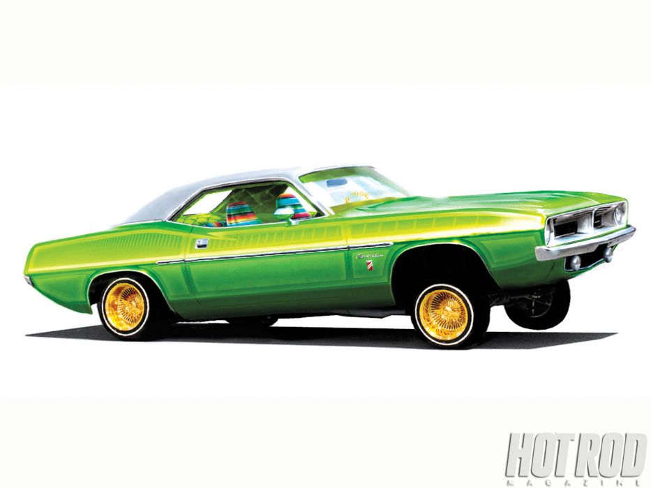 Plymouth Barracuda cuda muscle hot rod rods classic race racing lowrider lowriders    c wallpaper