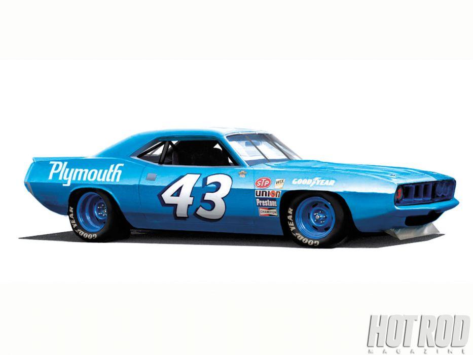 Plymouth Barracuda cuda muscle hot rod rods classic race racing nascar wallpaper