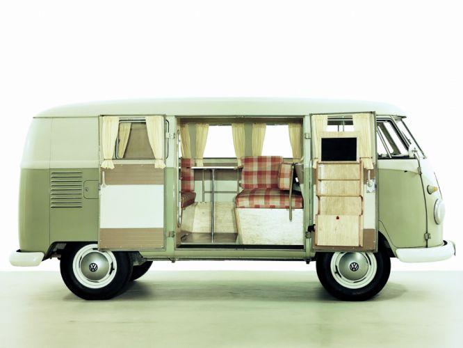 Volkswagen Type-2 Westfalia Deluxe Camper Van classic wallpaper