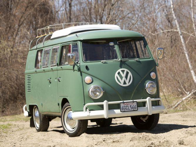 Volkswagen Type-2 Westfalia Deluxe Camper Van classic ge wallpaper