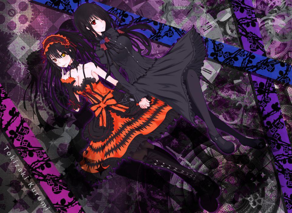 date a live lolita fashion tokisaki kurumi wallpaper