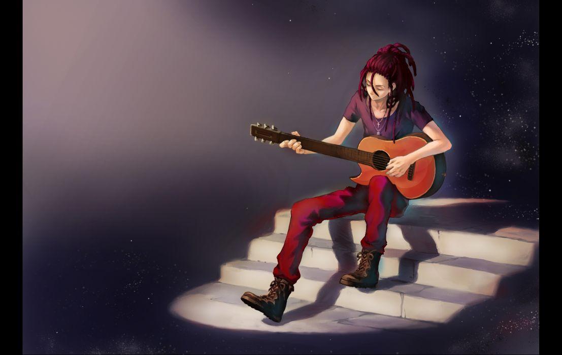 MAGI The Labyrinth of Magic Kassim guitar guitars wallpaper