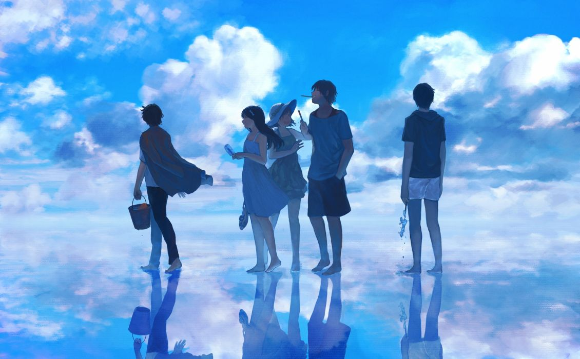 original clouds dress hat original pocky sky summer water zipperradio wallpaper
