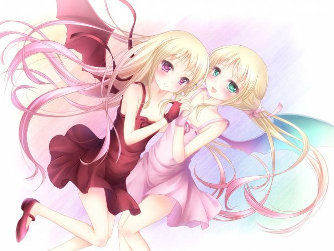 original girls blonde hair dress long hair tagme yayayoruyoru wallpaper