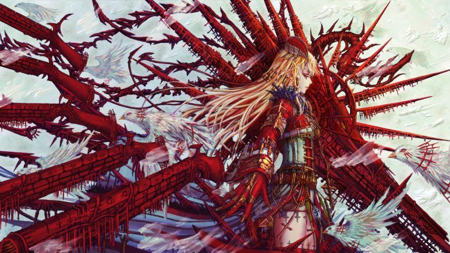 Original psychedelic bokeh girl girls detail dark sci-fi fantasy wallpaper