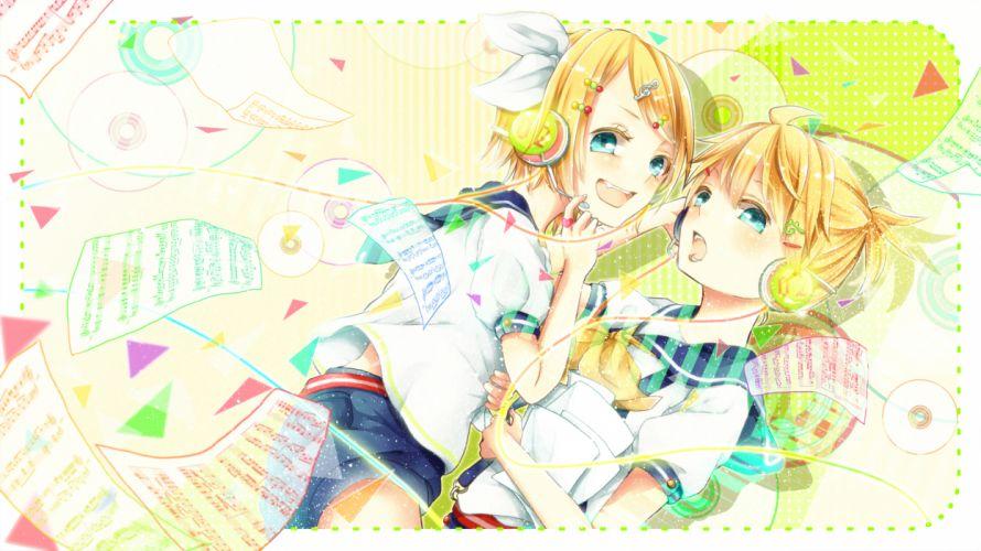 Vocaloid Kagamine Twins h wallpaper