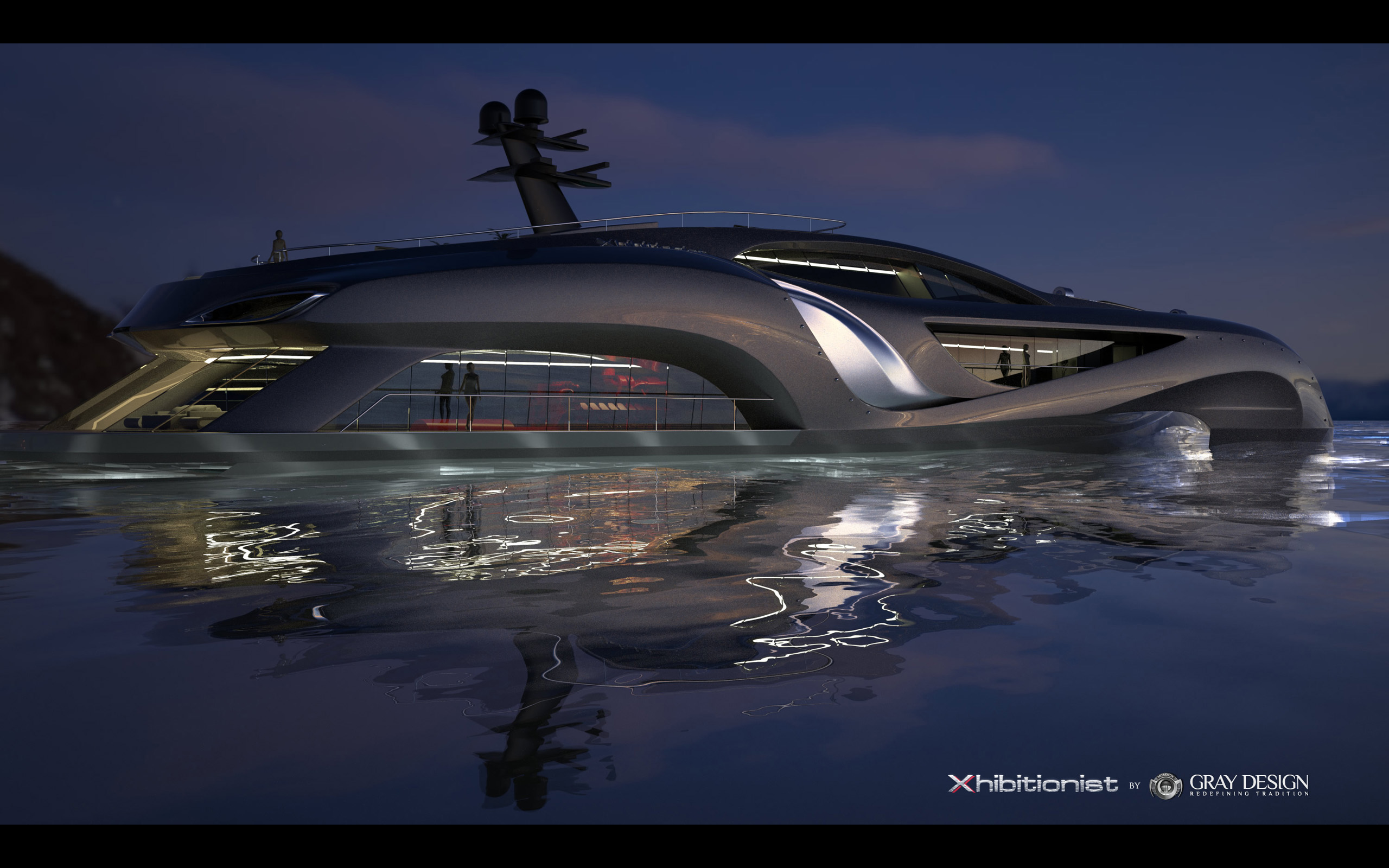 2013 Gray Design Strand Craft 166 Xhibitionist Yacht Concept Boat Boats Ship Ships Luxury Wallpaper