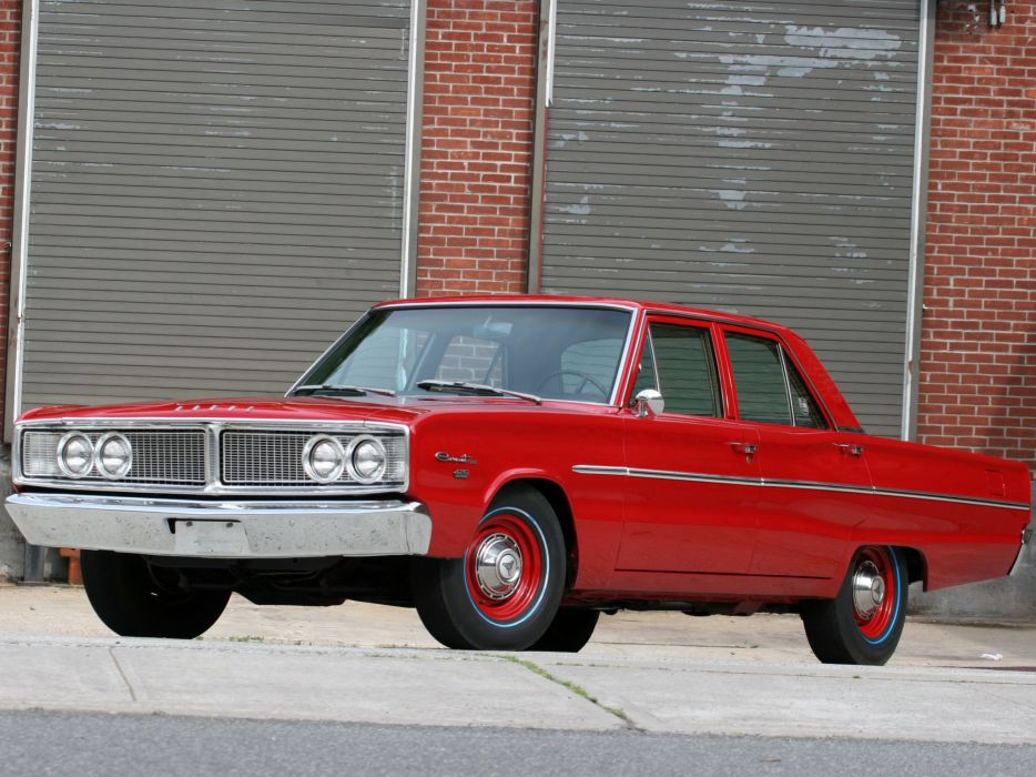 1966 Dodge Coronet Deluxe 426 Hemi 4-door Sedan muscle classic wallpaper