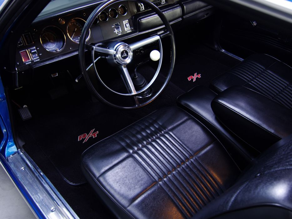 1968 Dodge Coronet R-T Hardtop Coupe WS23 muscle classic interior      g wallpaper